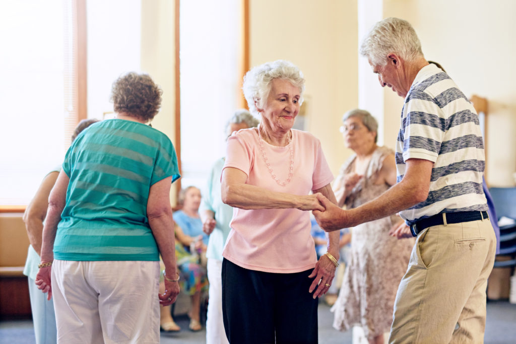 Cropped shot of a group of senior people dancing together
